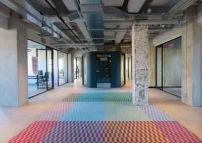 Vijfde etage cubical karpet