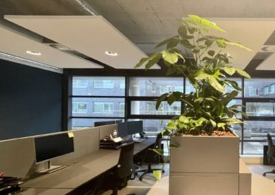 bureau met plantenbak